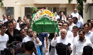 Dark day in Mumbai: Jiah Khan's funeral on 5 June 2013.