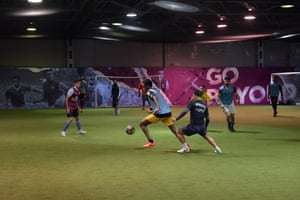 Villa provide the indoor pitches free of charge, plus a couple of staff to help Obayed run things