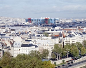 The Pompidou seen from across the city.