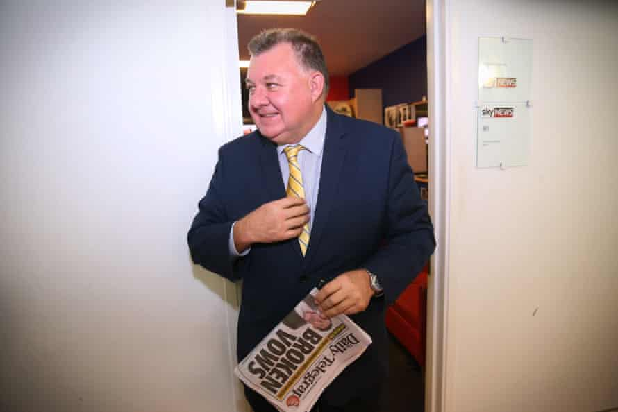 Craig Kelly in the press gallery of Parliament House