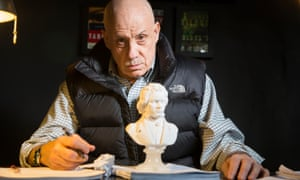 Living the 'Beethovian, monastic life' … James Ellroy at home in Hollywood.