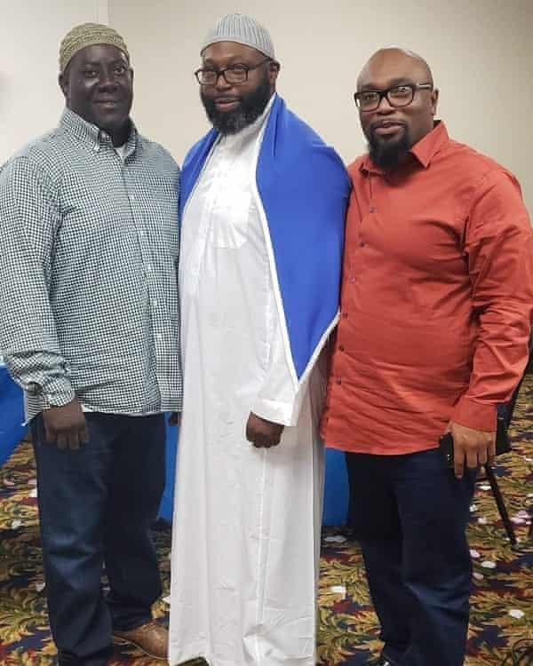 Hamid Abd-Al-Jabbar (left) and David Thompson (right), with a friend.