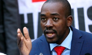 The Movement for Democratic Change leader Nelson Chamisa in Harare, Zimbabwe.