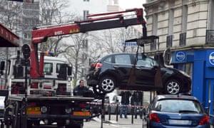 Charlie Hebdo gunmen's car