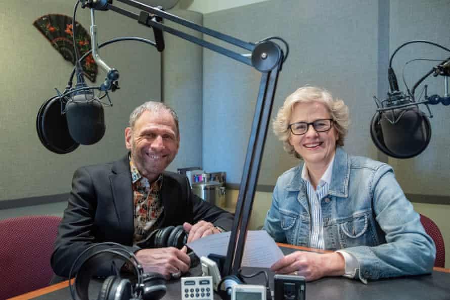 Ira Siff and Mary Jo Heath in the studio at the Metropolitan Opera.