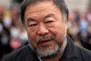 Chinese artist and activist Ai Weiwei joins the demonstration