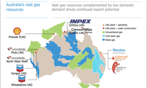 Australia's natural gas resources - map