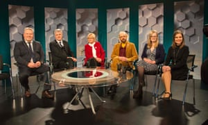 Party leaders at TV debate