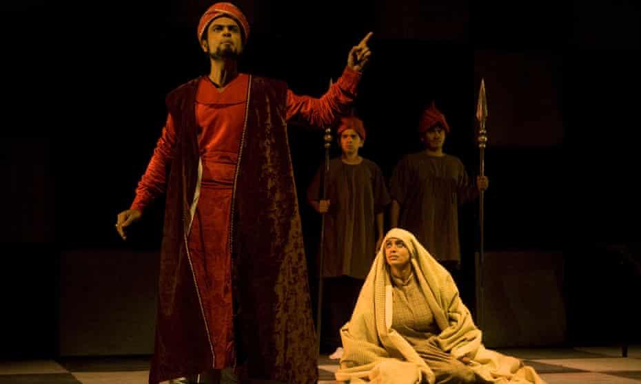Madness and genius in Girish Karnad's Tughlaq, presented by Samudaya in 2013.