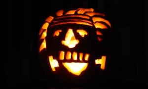 Einstein carvevd pumpkin