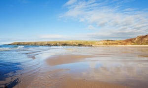 Whistling Sands beach, Porth Oer. Wales.