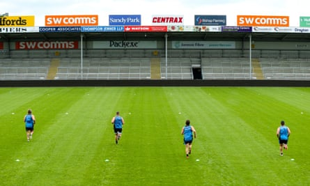 Exeter Chiefs prepare for the return of Premiership rugby at Sandy Park.