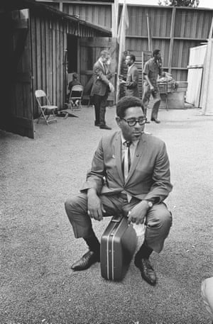 Dizzy Gillespie backstage at Monterey, 1963 by Jim Marshall
