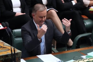 Opposition leader Anthony Albanese during question time