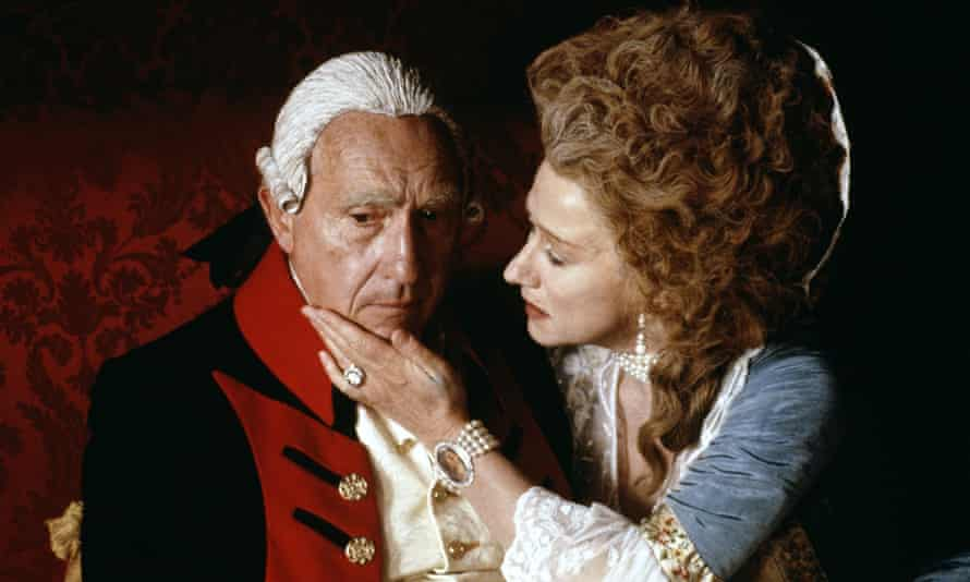 Mirren with Nigel Hawthorne in The Madness of King George.