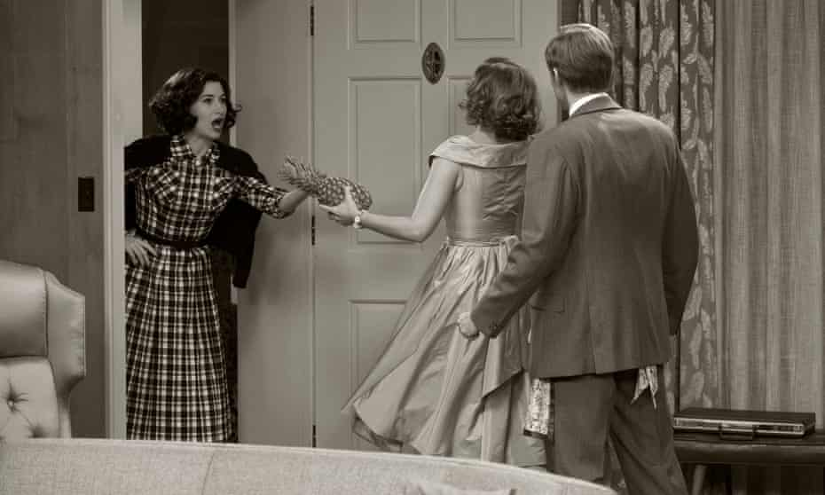 Authentic homage … Kathryn Hahn as Agnes, with Olsen and Bettany.