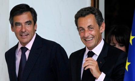 Francois Fillon with Nicolas Sarkozy in happier times in 2010.