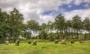The Nine Ladies stone monument on Stanton Moor, Derbyshire