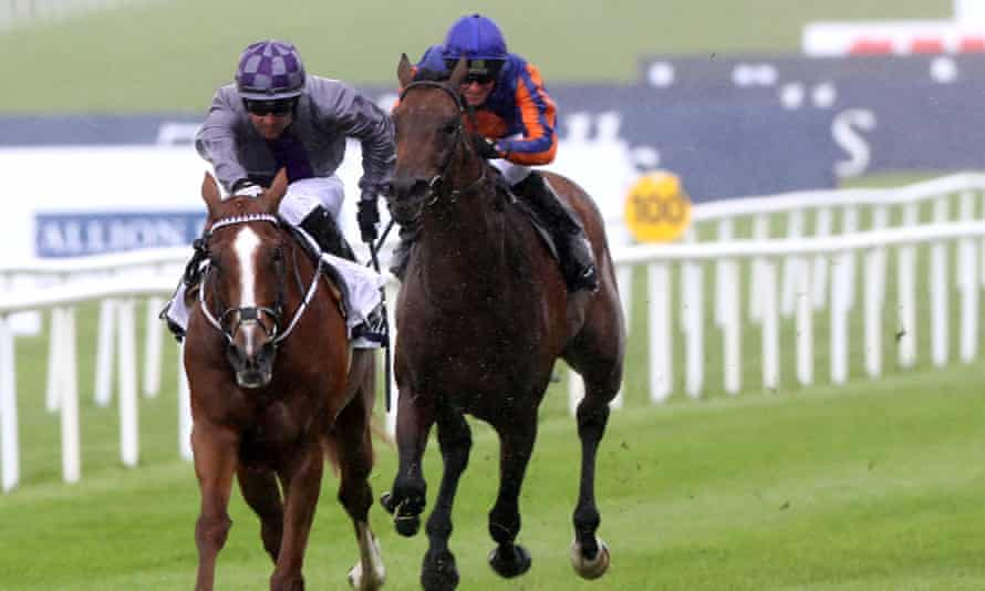 Mac Swiney is ridden to victory at the Irish 2,000 Guineas in May 2021.