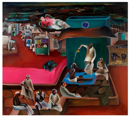 Bhupen Khakhar's Death in the Family.