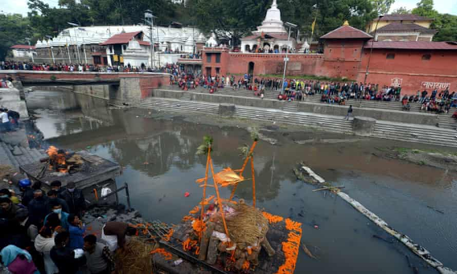 Funerals for the earthquake victims in Kathmandu