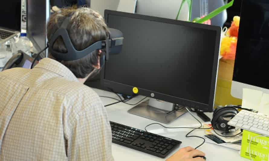 Using VR to work may not be the best look.