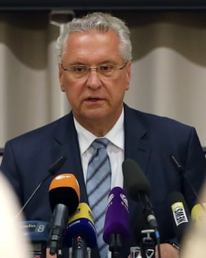 The Bavarian interior minister, Joachim Herrmann