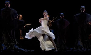 'It's not about technique, it's about emotion' … Sara Baras performs with her company in Voces.
