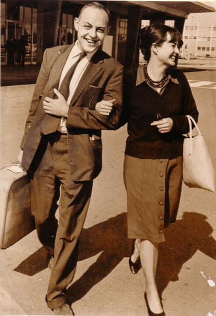 John and Ann Harris in 1963 – he was on his way back from testifying at the International Olympic Committee in Switzerland.