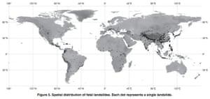Fatal landslides, 2004-2010