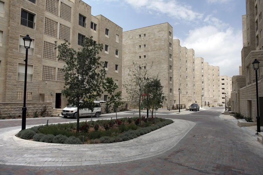 A finalised neighbourhood in the new Palestinian city of Rawabi.
