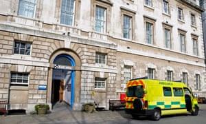 St Bartholomew's hospital in east London