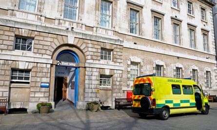 St Bartholomew's hospital in London