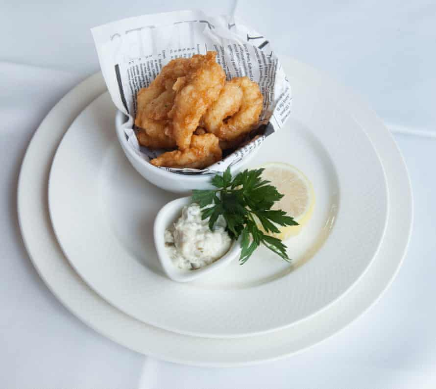 Crispy battered Scottish jumbo scampi and tartare sauce, at Smith's of Wapping.