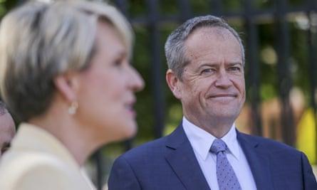 Opposition leader Bill Shorten (right) with deputy opposition leader Tanya Plibersek.