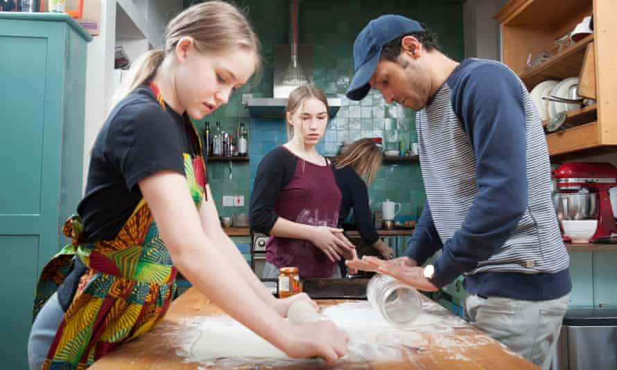 Mohammed bakes cheese twists with MacInnes, Eve and Malila
