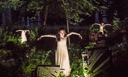 A scene from Depart by Circa at Tower Hamlets Cemetery Park.