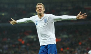 Peter Crouch scored 22 goals in 42 appearances for England.