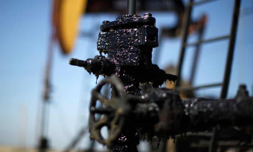 Oil well in California
