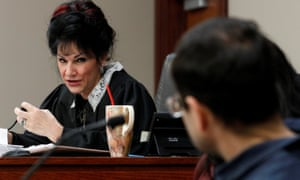 Circuit Court Judge Rosemarie Aquilina addresses Larry Nassar, a former team USA Gymnastics doctor who pleaded guilty in November 2017 to sexual assault charges.