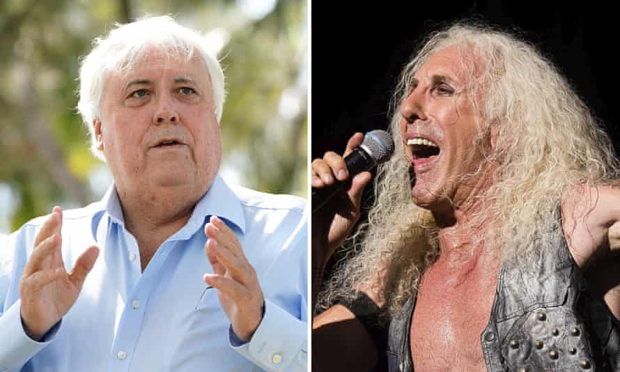 composite pic of Clive Palmer and Dee Snyder from Twisted Sister
