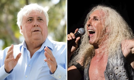 Dee Snider of Twisted Sister (right) has told Australia's federal court Clive Palmer's version of the song We're Not Gonna Take It was 'awful' and 'misrepresented' the band's work.