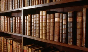 Bookcase in the Bodleian Libraryca. 1970-1995, Bodleian Library, Oxford, Oxfordshire, England, UK --- A bookcase packed with leatherbound volumes in the Bodleian Library, in Oxford, England. --- Image by Adam Woolfitt/CORBIS bookshelf
