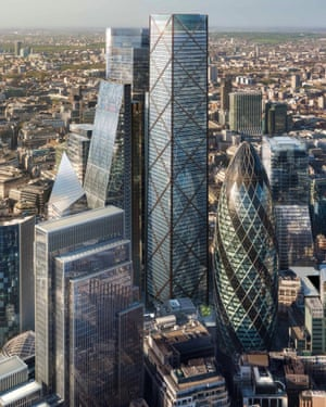 An artist's view of the proposed building at 1 Undershaft, known as the Trellis, whose future is now in doubt.