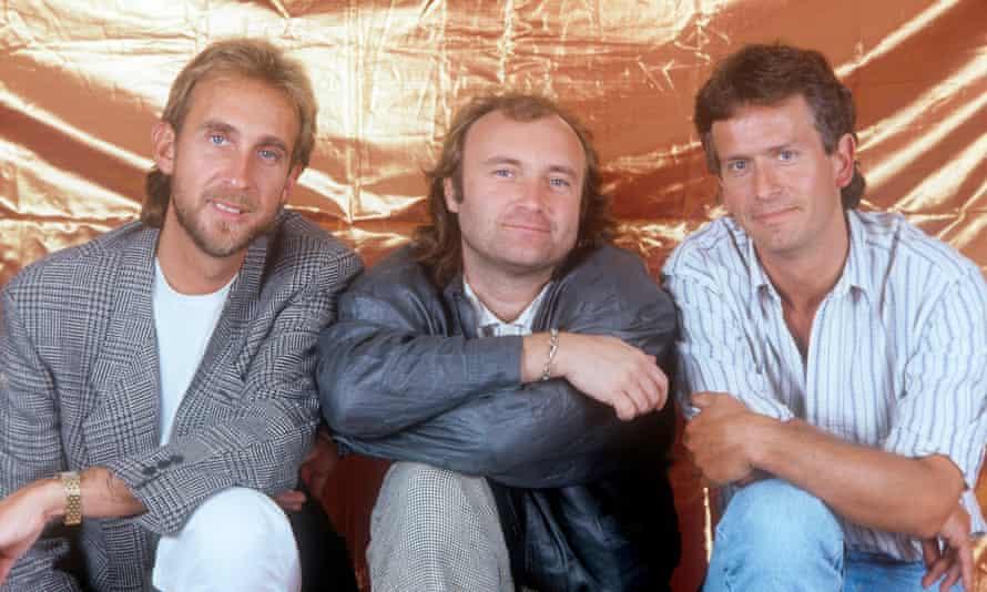 From left: Mike Rutherford, Phil Collins and Tony Banks of Genesis, pictured in 1987.