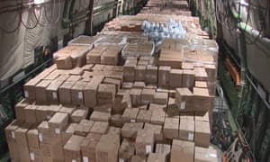 Coronavirus: Russia sends plane full of medical supplies to US