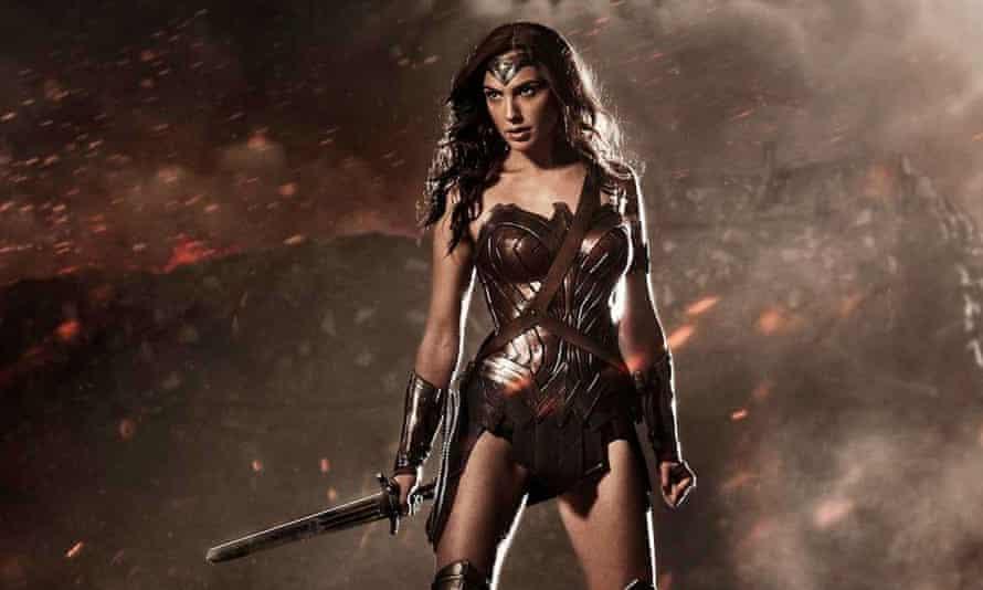 Gal Gadot as Wonder Woman in Batman v Superman.