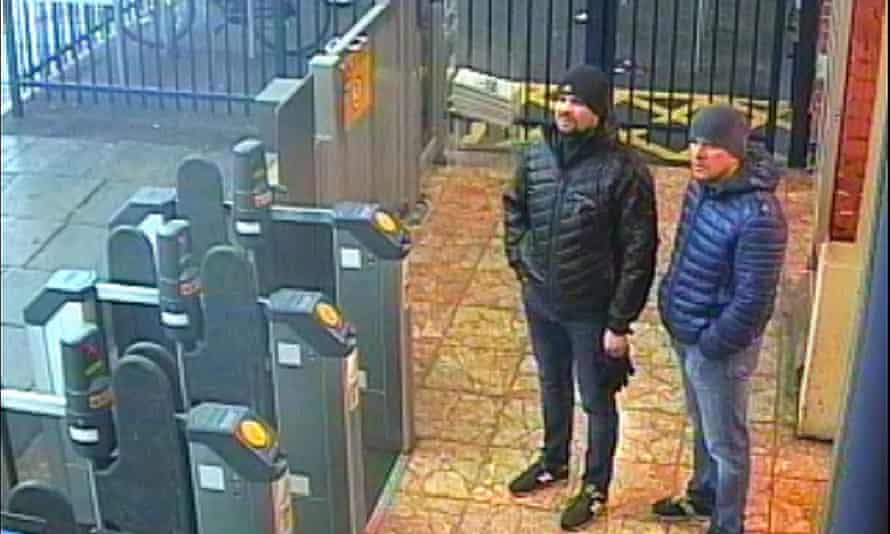 Alexander Petrov and Ruslan Boshirov as Salisbury station
