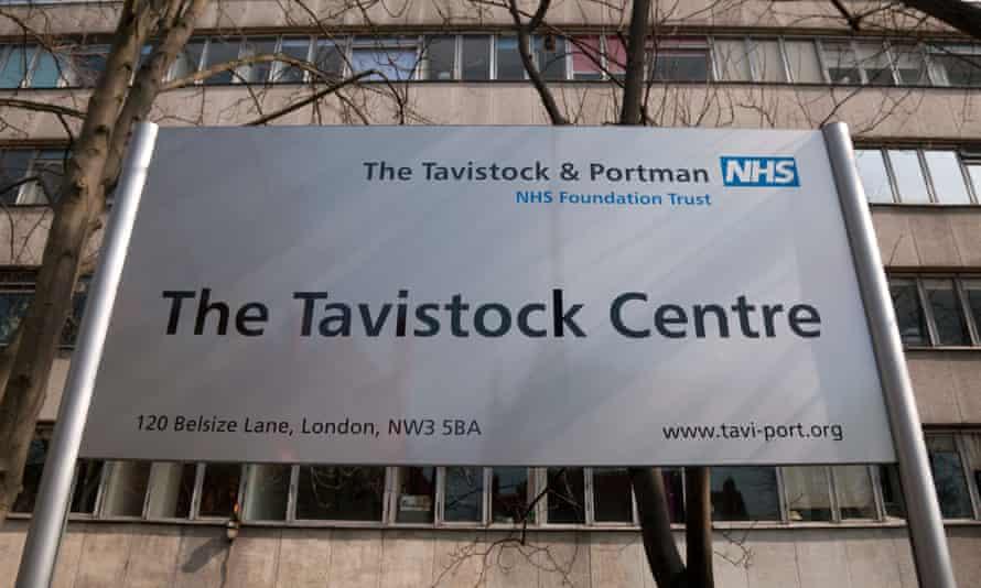 A sign outside the Tavistock Centre in London