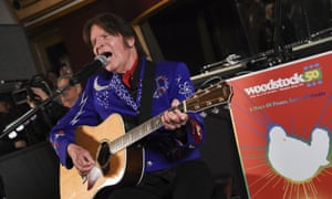 John Fogerty performs at the Woodstock 50 lineup announcement in New York on 19 March. Fogerty has since pulled out of Woodstock 50 and will now perform at a smaller anniversary event held at the original site in Bethel, New York.